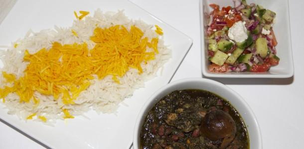 sabzi, persisk ret, lime, tørrede lime, lammekød