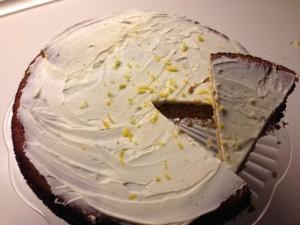 Sandkage, citronfuldmåne, kage med Citron, Citronkage, En dejlig sandkage med masser af citron