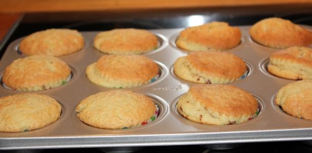 De færdige vanilje muffins, de smagte fantastisk