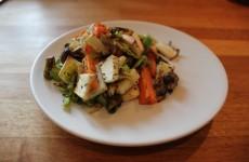 Timian grøntsagerne er færdige og klar til at spises