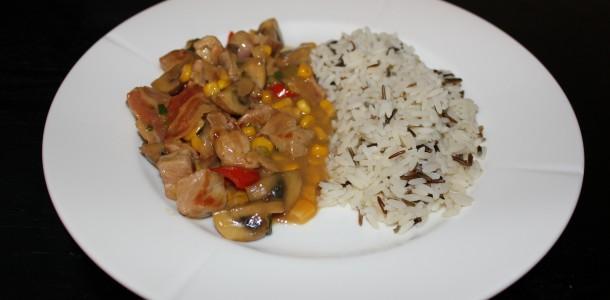 Sammenkogt med vilde ris