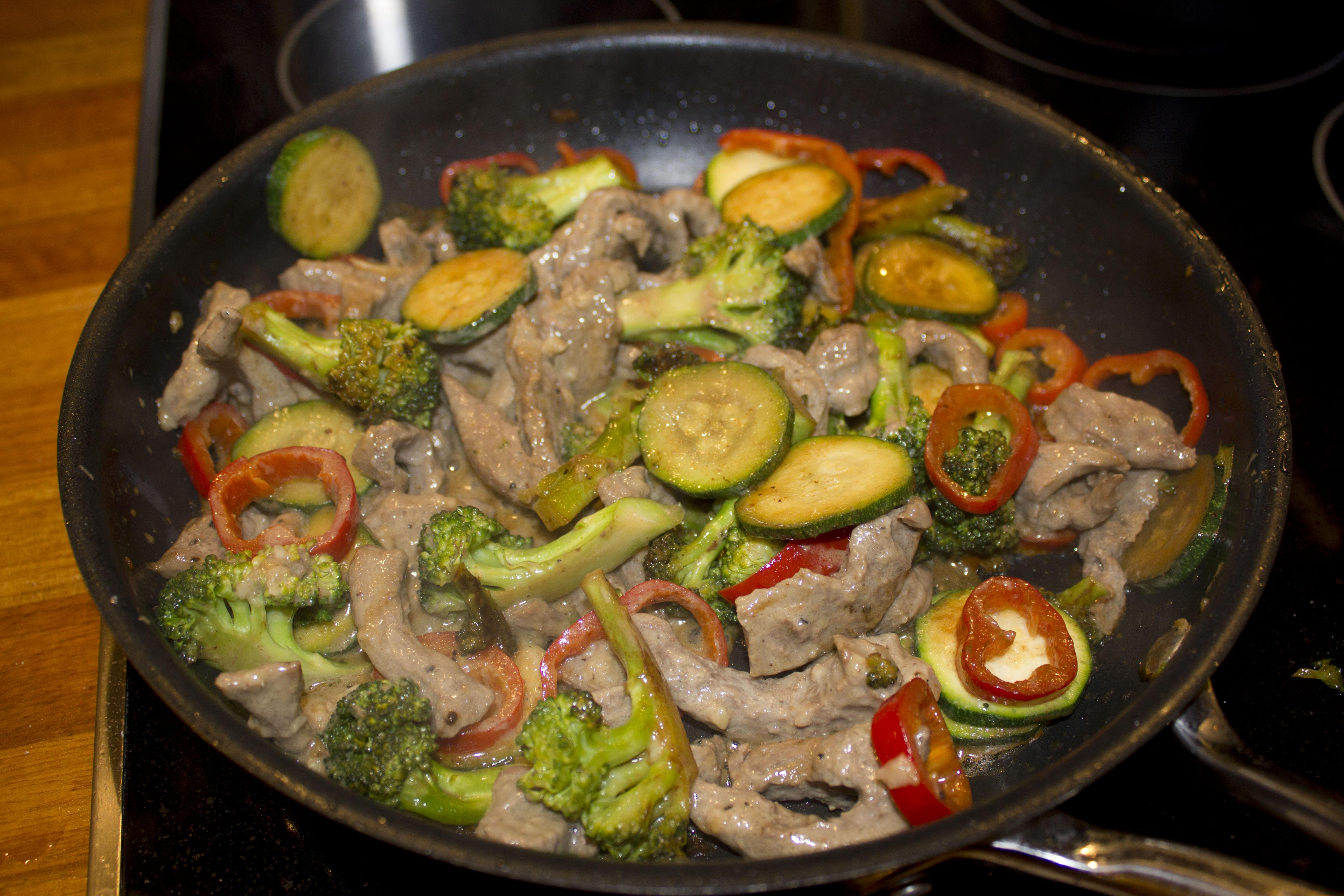 sund aftensmad med oksekød