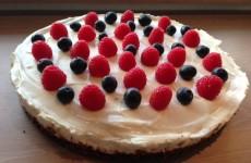 en lækker cheesecake