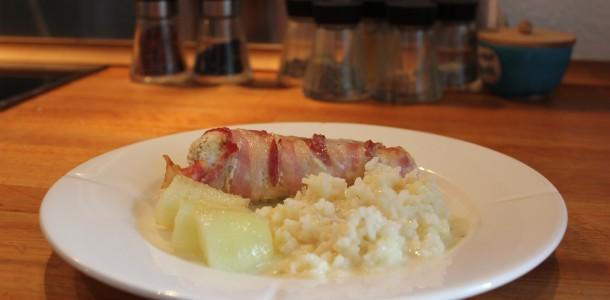 Bacon i svøb klar til servering