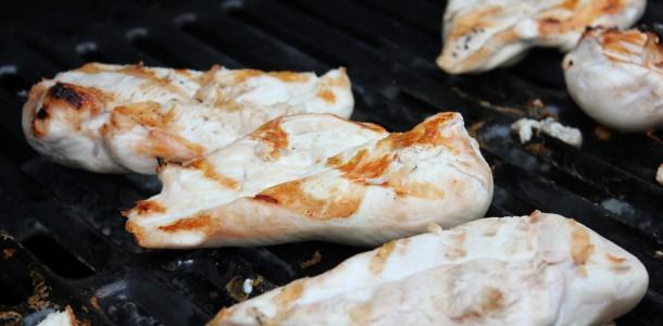 grillet kylling - Kyllingen grilles...
