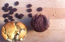 MUffins med chokolade og marcipan