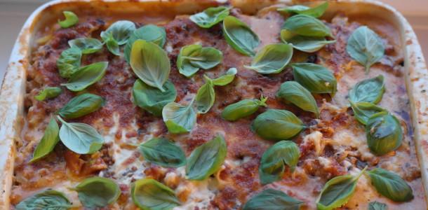 Den færdige kartoffel lasagne