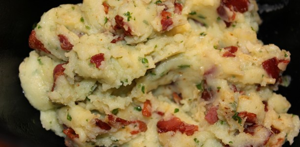 Fyldet til de bagte kartofler