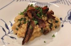 Risotto med spinat og svampe - Mums!
