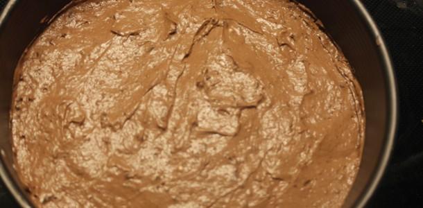 Chokolade bunden inden ovnen