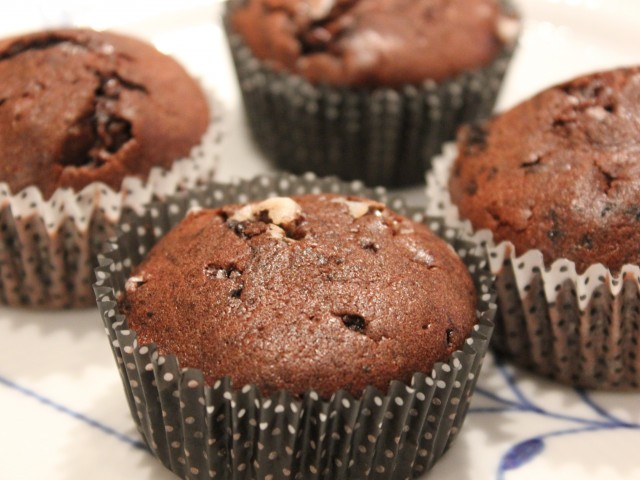 Oreo Cupcakes -inden frosting