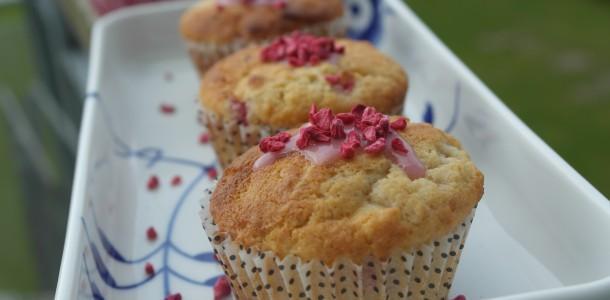 Lækre hindbær muffins