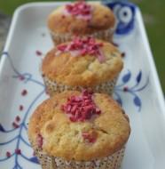 Mums hindbær muffins