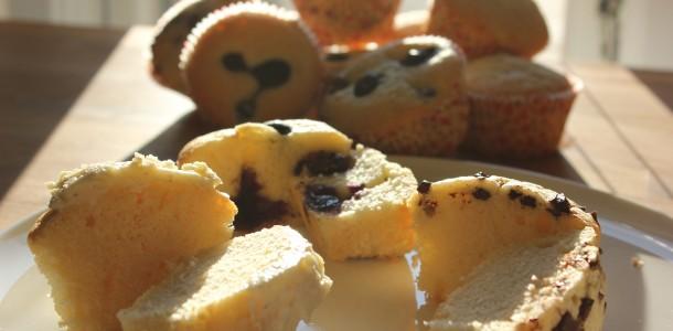 Smukke citron muffins - Og de blev hurtigt spist ;-)