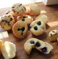 Citron muffins med citronskald, blåbær og chokolade
