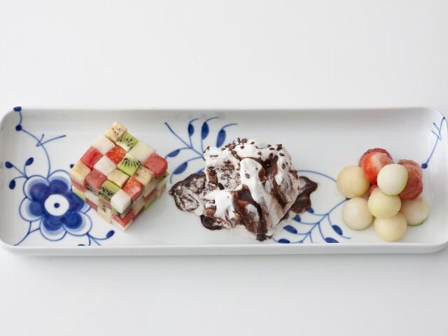 Frugt terninger med Carte d'Or is og frugt kugler