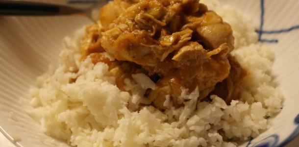 Blomkåls ris med indisk kylling