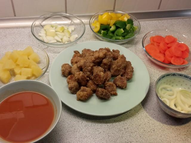 Forberedte ingredienser til sursød